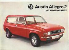 BRITISH LEYLAND AUSTIN ALLEGRO 2 1300 & 1500 ESTATE SALES BROCHURE FEBRUARY 1977