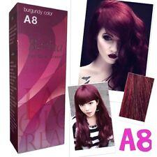 A8 BERINA BURGUNDY COLOR PROFESSIONAL PERMANENT HAIR DYE CREAM