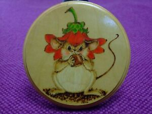 4   Mouse  wall pictures. Mice & Flowers. Pyrography, Gorgeous .Hand drawn.
