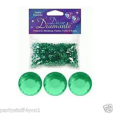 6mm Diamante Crystal Table Confetti Wedding Celebration Decorations 18 Colours Emerald