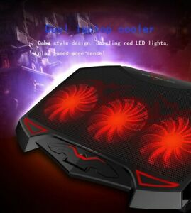Ultra Quite Laptop Cooler Fan 3 Powerful Fans With 2 USB Ports For Gaming Laptop