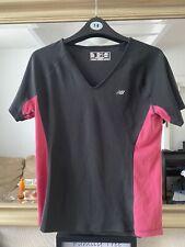 New Balance Ladies Workout Gym Running Top Size S Pink Black