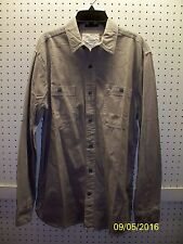 ST. JOHN'S BAY Men's Small Titanium L/S Classic Fit Cotton Shirt FREE Shpg NWTA