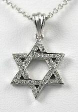 Diamond Star of David Pendant 14k White Gold with 0.32ct Diamonds
