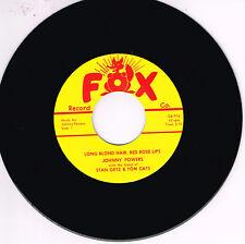 JOHNNY POWERS - LONG BLOND HAIR / ROCK ROCK (Legendary ROCKABILLY Bops) repro