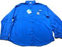 Columbia PFG New Mens Blue Front Pocket Fishing Shirt Size XL