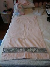 Vintage 1978 Avanti Cotton Decorative Towel Greek Key Design .US Made Think Pink
