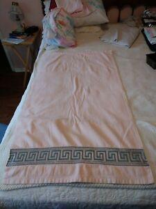 Vintage 1978 Avanti Cotton Decorative Towel Greek Key Design .US Made Think Pink