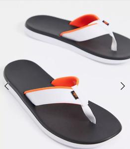 Nike Mens Kepa Kai Slide Sandals Thong orange White Flip-Flops