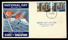 1963 SINGAPORE NATIONAL DAY FDC CACHET