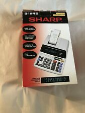 Sharp El-1197Piii Printing Calculator in box with operating manual