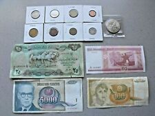 Foreign Paper Money And Foreign Coins 13 Total