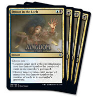 4x Drown in the Loch - Throne of Eldraine - NM - Playset - English - MTG
