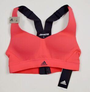 Adidas Girl Sports Bra Bowl Tank Top Shirt Children's Coral Black/Coral Pink