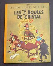 Hergé. Tintin. Les 7 Boules de Cristal. 1948, B2; titre en noir. Seconde édition
