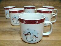 SET OF 6 - ROYAL SEASONS - CHRISTMAS / WINTER - SNOWMAN - COFFEE CUPS MUGS