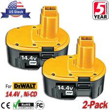 2x New 14.4V Ni-Mh Battery for Dewalt 14.4 Volt Dc9091 Dw9091 Dw9094 Power Tools