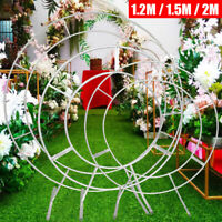 1.2m/1.5m/2m Circle Arch Framework Stand Set Metal Round Wedding Party Backdrop