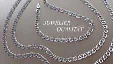 925 Sterlingsilber echt Silber Zwillingspanzerkette Flach Massive Halskette 60cm