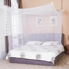 Mosquito Net Four Corner Bed Netting White Canopy Bedding Insect Protection