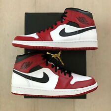 Nike Jordan 1 Chicago Mid White Toe Black Toe (2020) Gym Red 554724-173 NEW