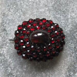 Vintage Garnet Encrusted Brooch