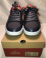 Levi's Men's Aart Canvas Sport Fashion Navy/Red Sneakers Size 9  516851