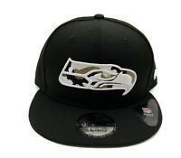 Seattle Seahawks New Era 9Fifty Black Camo Trim Adjustable Snapback Hat Cap NFL