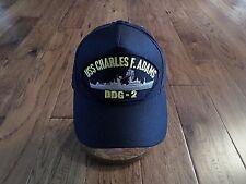Uss Charles F Adams Ddg-2 U.S Navy Ship Hat Official Military Ball Cap U.S Made