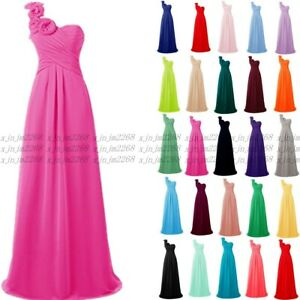 one shoul Chiffon  Evening Formal Party Ball Gown Prom Bridesmaid Dress Size6~26