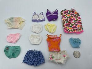 BARBIE DOLL LOT FASHION CLOTHING DRESS SLEEP NIGHT PAJAMAS PANTIES Underwear