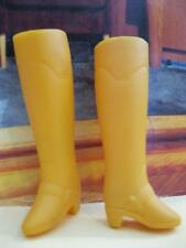 VTG MATTEL 1970s Superstar FIREMAN RAIN Shoes Soft Best Buy SQUISHY YELLOW BOOTS