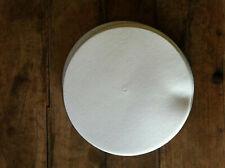 """Slipmat 12"""" Vinyl White Felt (Pair) New Technics or any Turntable Dj"""