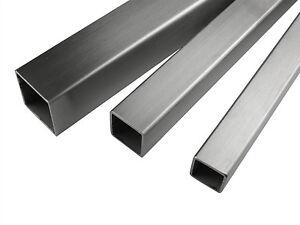 Aluminium Square Box Tube Various Sizes 1 Meter length