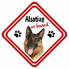 Alsatian German Shepherd On Board Personalised Car Sign Have it Your Way