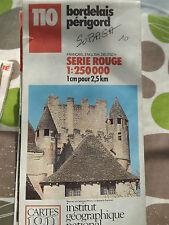 carte IGN serie rouge 110bordelais perigord 1987