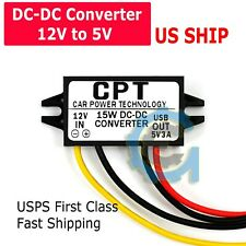 Car Waterproof DC-DC Converter 12V Step Down to 5V Power Supply Module 3A 15W