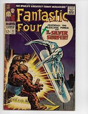 FANTASTIC FOUR 55 - VG- 3.5 - 4TH SILVER SURFER - HUMAN TORCH - THING (1966)