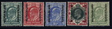 Bechuanaland Protectorate 76 to 79 set & 80 (SG 66 to 70) - mh Edward VII