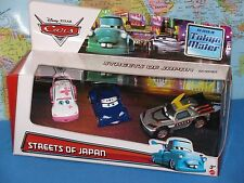 DISNEY PIXAR CARS STREETS OF JAPAN CHO KABUTO NINJA TOKYO MATER 3 PACK BRAND NEW