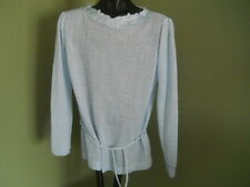LADIES VTG BABY BLUE L/SLEEVE SPRING SEASONS SWEATER 90 POLY 10 ACRYLIC SMALL