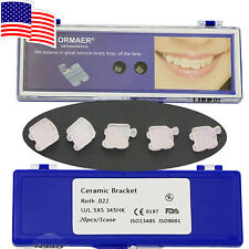 3M ORMAER Dental Orthodontic Ceramic Brackets Roth 022 345 Hooks USA