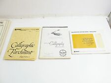 3 PACKS OF CALLIGRAPHY CALLIGRAPHIC WRITING PAPER: HUNT BIENFANT AND AQUABEE