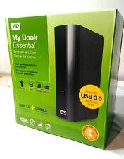 WD My Book ESSENTIAL 1TB External Hard Drive USB 2/3, Backup/Storage, MAC/PC, HD