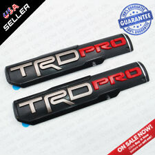 2x TRD Pro Left & Right Side Front Door Badge Nameplate Emblem Decoration Gift