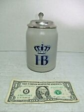 Hb Hofbrauhaus Munchen Germ 00004000 an Pottery Stoneware Beer Stein Mug 0.5 Liter