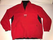 Chicago Bulls Large Reversible Sewn Logo Black/Red Middleweight Jacket Pullover
