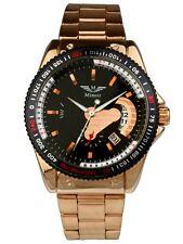 Minoir Uhren - Modell Tonnere rotgold / schwarz - Automatikuhr, Herrenuhr Ø 42 m