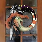 Halloween Witch Hat Moon Wreath Door Hanging Decoration Holiday Party 13