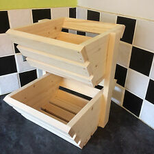 Frutta verdura RACK 2 livelli in legno